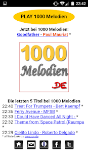 1000 Melodien Player Screenshot