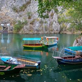 Matka Canyon by Kirk Meadows - Transportation Boats ( skopje, matka canyon, macedonia, boats, water )