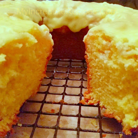 Easy Lemon Pound Cake with Lemon Icing!