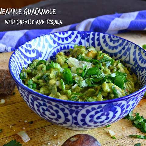 Pineapple Guacamole with Chipotle and Tequila
