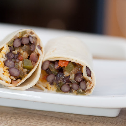 Freezer Black Bean Fajita Burritos