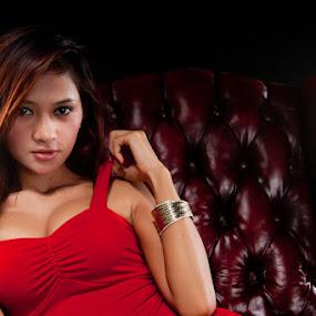 My Red by Fajar  Kurniawan - People Portraits of Women ( sexy, model, red, beauty )