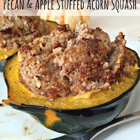 Pecan and Apple Stuffed Acorn Squash