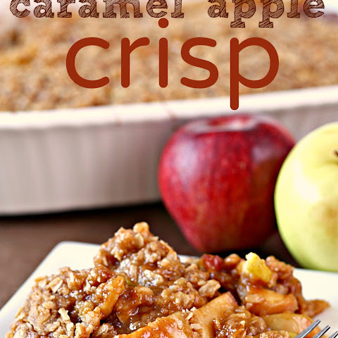 Warm Caramel Apple Crisp