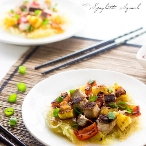 Easy Sweet and Sour Sauce with Grilled Pork and Spaghetti Squash (GF, Super Simple + Lightened up}