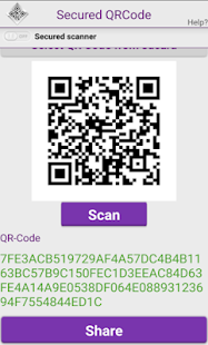 Secured QR Code - screenshot