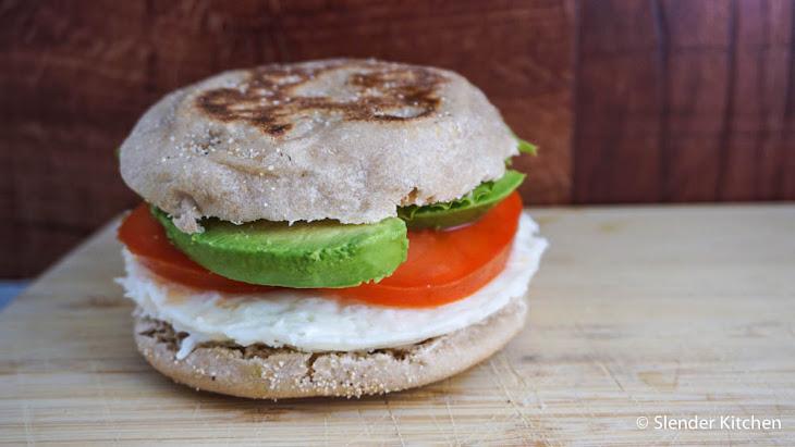 Egg White, Tomato, & Avocado Breakfast Sandwich Recipe | Yummly