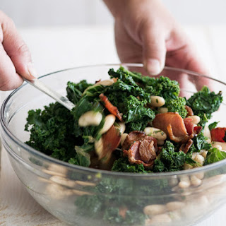 Kale, Bacon and White Bean Salad
