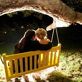 swing time by Scott Nelson - Wedding Bride & Groom