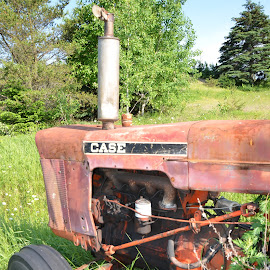Old tractor other time by Réal Michaud - Artistic Objects Antiques ( countryside, motors, case, antique, tractor, rural )