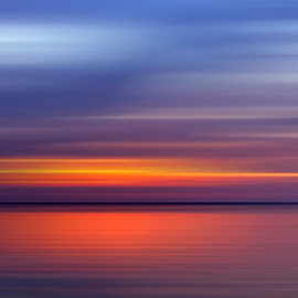 Passing By by Geoffrey Wols - Abstract Patterns ( panning, ocean, bantayan island, beach, sunset, philippines, water,  )