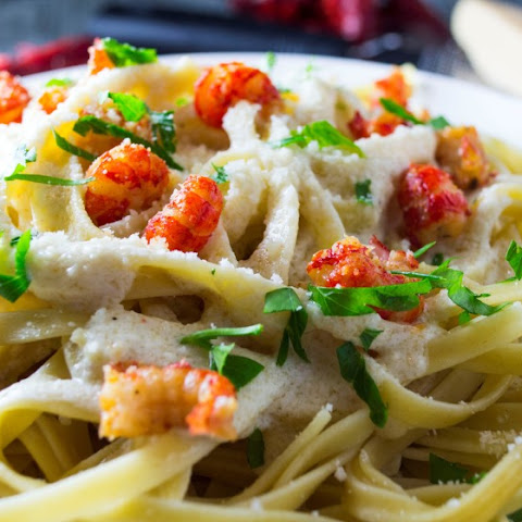 Crawfish Fettuccine Alfredo