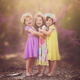 by Lucia STA - Babies & Children Child Portraits ( girls, sisters, triplets, outdoor, spring,  )