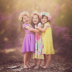 by Lucia STA - Babies & Children Child Portraits ( girls, sisters, triplets, outdoor, spring )