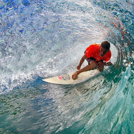 Crystal Blue by Trevor Murphy - Sports & Fitness Surfing ( surfing, barrels, tmurphyphotography, randy townsend, costa rica, places )