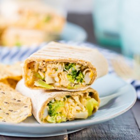 Cheesy Ranch Broccoli Chicken Burritos