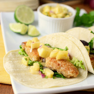 Hawaiian Fish Tacos with Spicy Pineapple Salsa