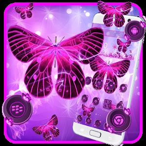 Neon Purple Butterfly For PC