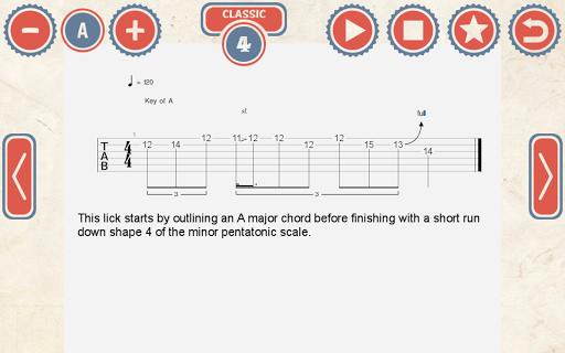 144 Blues Guitar Licks: Pro - screenshot