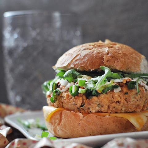 Spicy Salmon Patties with Aioli Sauce