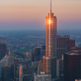 The Eye of Sauron by Vinod Kalathil - Buildings & Architecture Office Buildings & Hotels ( skyline, building, skyscraper, chicago, sunrise, cityscape )