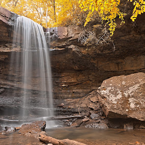 Gold Cucumber Falls by Nicolas Raymond - Landscapes Waterscapes ( wood, exterior, wonderland, stone, chutes, vibrant, yellow, travel, flow, leaves, colour, colourful, sky, fluid, nature, foliage, movement, motion, surreal, ohiopyle state park, colors, cliff, white, tourism, forest, somadjinn, united states, colours, outdoors, trees, scene, golden, outside, stream, america, colorful, waterscape, rocky, vivid, waterfall, beauty, usa, pretty, fantasy, cucumber, epic, nicolas raymond, chute, rapids, long exposure, gold, rocks, streaming, water, hdr, park, flowing, lush, beautiful, ethereal, pennsylvania, scenic, rapid, woods, color, outdoor, background, falls, brown, scenery, stones, river )