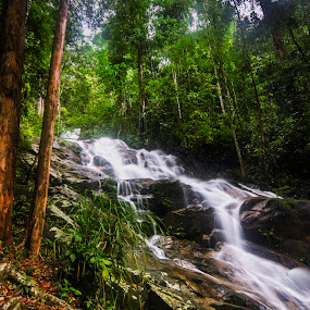 Kanching Waterfall by Zack Zaidi - Landscapes Waterscapes ( waterscape, waterfall, slowshutter, malaysia, kanching, landscape )