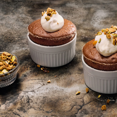 Bittersweet Cocoa Souffles With Orange Blossom Cream Recipes ...