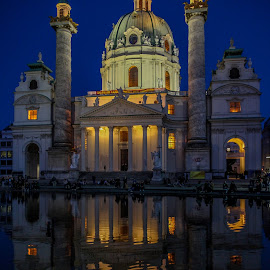 Karlskirche by Aamir DreamPix - Buildings & Architecture Places of Worship ( church, austria, vienna, europe )