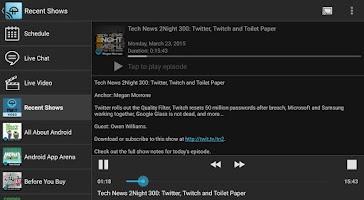 Screenshot of TWiT Cast for Chromecast