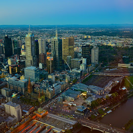 View from above ... Melbourne by Lim Khwang Thong - City,  Street & Park  Skylines ( melbourne, above, eureka deck, view )