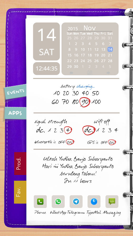 Agenda Purple Theme for TL Screenshot 0