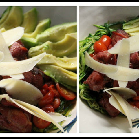 Chicken Livers Wrapped in Bacon {Low Carb, Paleo, Salad}