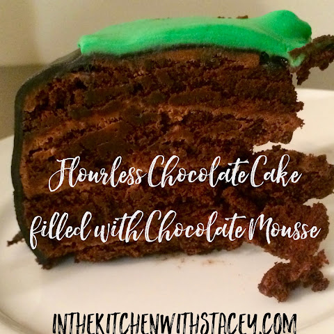 Flourless Chocolate Cake filled with Chocolate Mousse