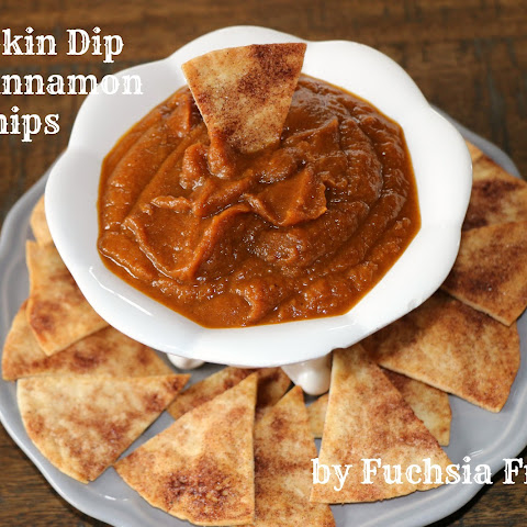Pumpkin Dip with Cinnamon Chips