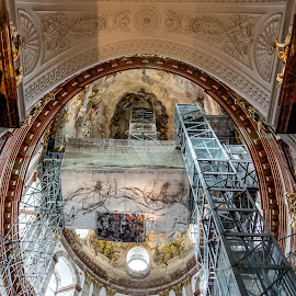 Karlskirche, Vienna by Andrew Moore - Buildings & Architecture Places of Worship