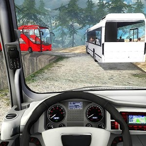 Mountain Tourist Bus Driving