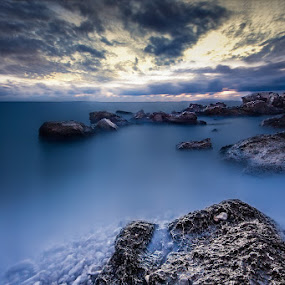 Blue dusk by Petar Lupic - Landscapes Weather