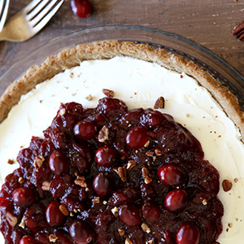 Mascarpone and Cranberry Tart with Pecan Crust