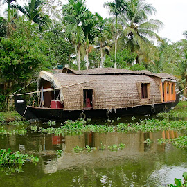 Houseboat by Doug Hilson - Transportation Boats ( backwaters, houseboat, kerala, india,  )
