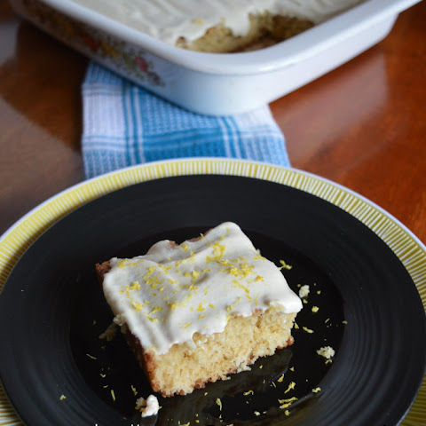Lemon Cake With Lemon Cashew Icing (Gluten Free/ Dairy Free/ Vegan/ Refined Sugar Free)