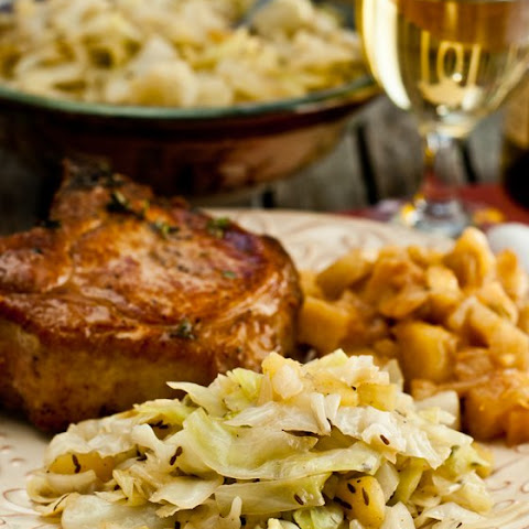 Braised Apples & Cabbage