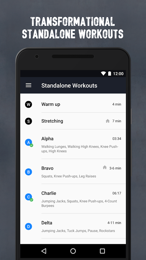 Runtastic Results Workout App Screenshot 2