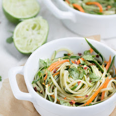 Cucumber Noodles + Spicy Sesame Soy Dressing