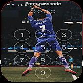 Keypad Lock Screen for C.Ronaldo 7 Free APK for Bluestacks