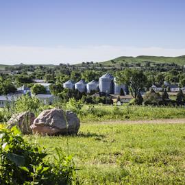 Fort Sourkrout by Julie Wooden - Landscapes Prairies, Meadows & Fields ( boulders, north dakota, nature, sunny, hebron, green, outdoors, summer, scenery, fort, landscape, rocks, fort sourkrout,  )