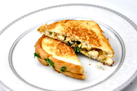 vegetarian lunch grilled chicken sandwich is made up of cooked chicken ...