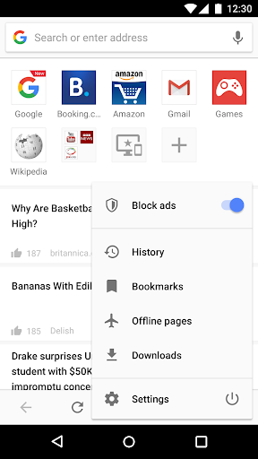 Opera browser - news & search screenshot 1
