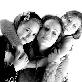 by Jodie Newton - People Family ( love, girls, famil, girl, mother, black and white, family, single mother )
