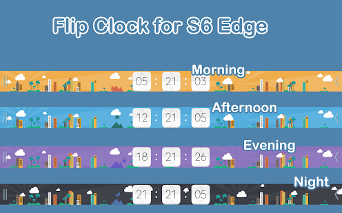 Flip Clock for S6 Edge (Plus) - screenshot